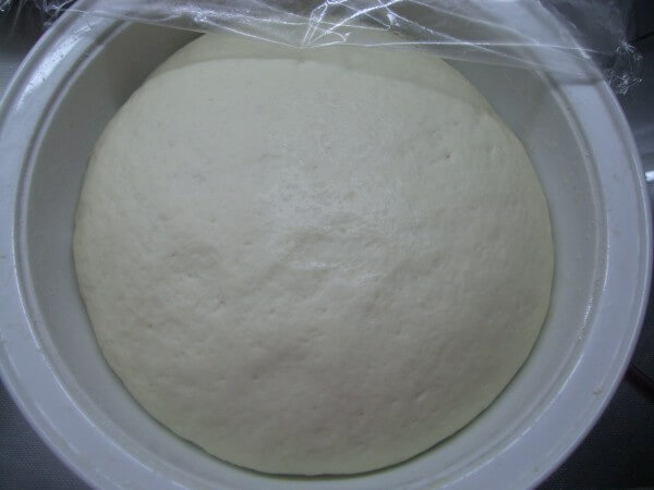 Ferment the dough to 2 times the size of the original.