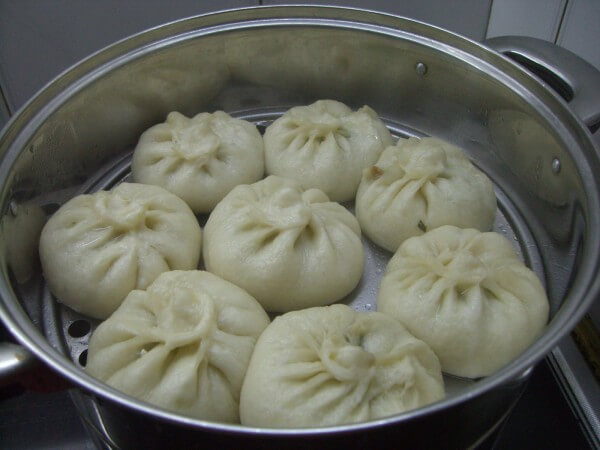 The buns are fermented to 2 times the size of the original.