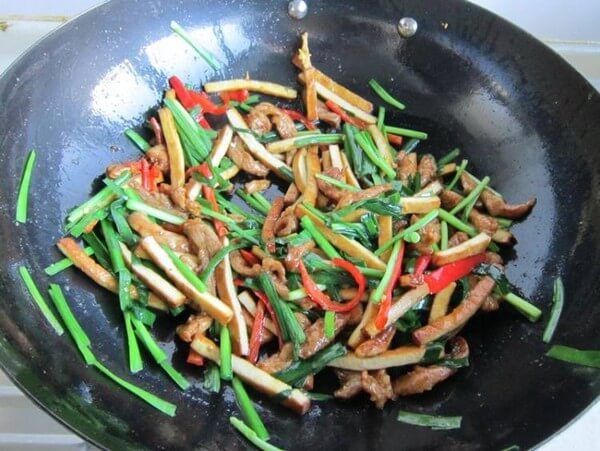 Stir-fry evenly