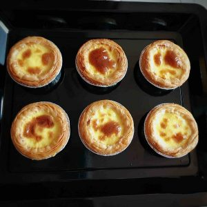 The custard tart is ready