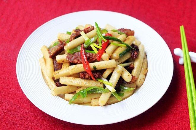 Sausage Fried Rice Cake Miss Chinese Food