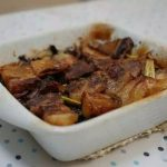oven version pork belly mushroom.