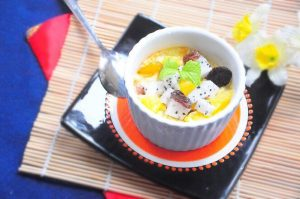 coix seed fruit pudding.