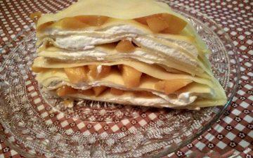 Mango thousand layer cake