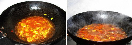 Add broth and bring to boil,