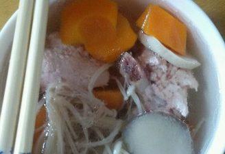 Mushroom Carrot and Ribs Soup