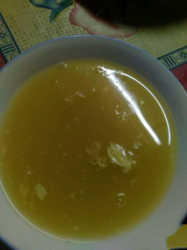 After cooking, cool until a layer of rice oil