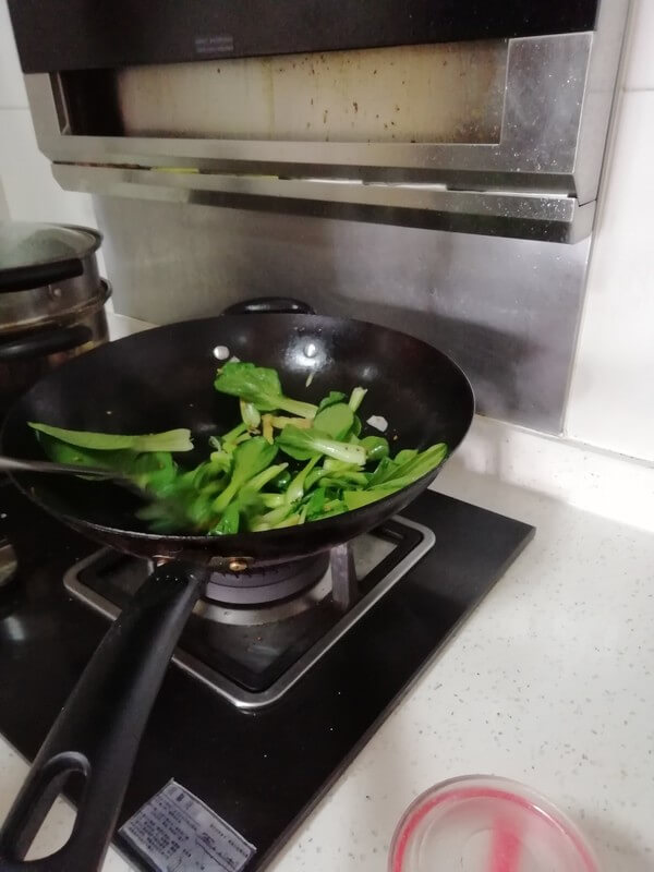 Saute the ingredients into the pan and stir fry the vegetables