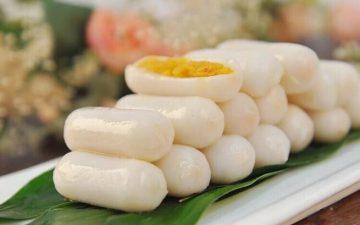 Egg yolk mochi.