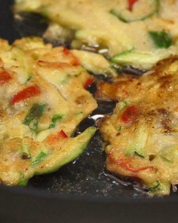 Zucchini Clam Pancakes