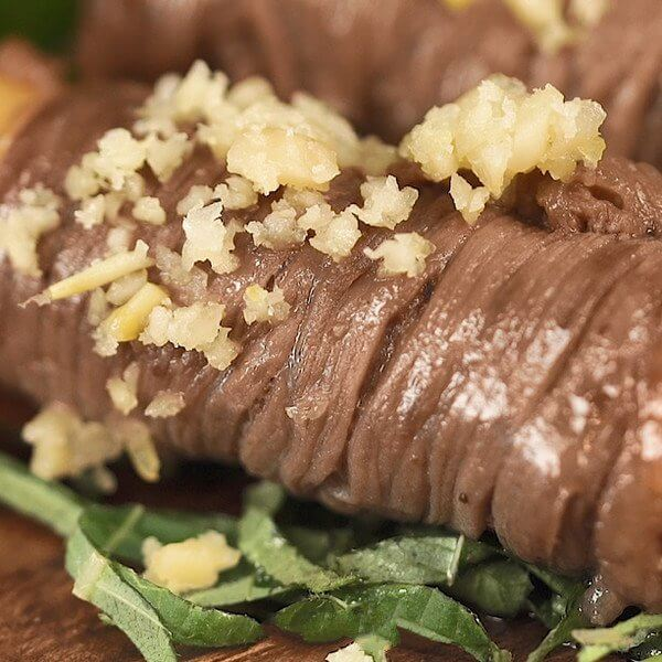 Beef Roll Rice Cake
