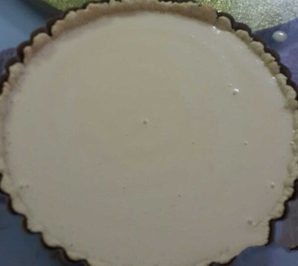 Pour into the pre-baked pie crust
