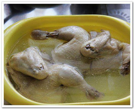 After soaking the chicken, remove it and place it in cool,