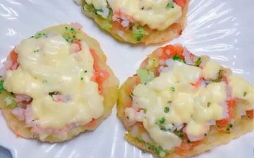 Milk-flavored Vegetable Pizza.