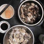 Leizhou white cut chicken & stewed tree fish.