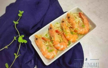 Shrimp Steamed Golden Needle Mushroom #Lunch#