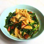 Leek Fried Oil Bean Curd