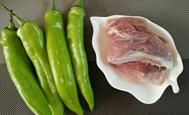Green pepper, pork
