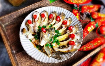 New Year's Eve Hard Dish Open Screen Fish