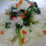 tremella mixed with spinach