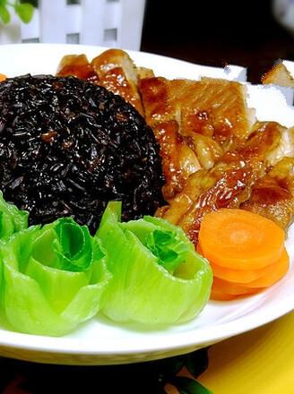 Teriyaki Chicken Leg Black Rice