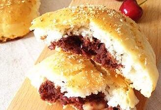 The Small Bread Roll with Nuts and Bean Paste