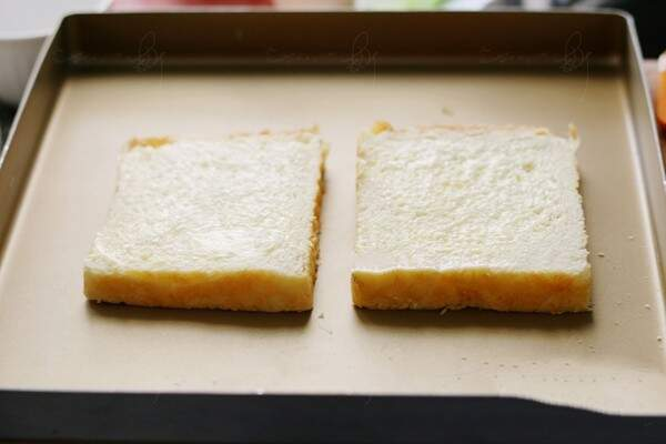 Brush the two other toast
