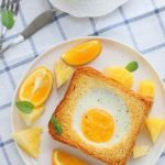 The Delicious Baked Toast with Bacon and Eggs